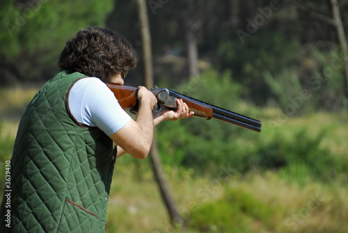Fotobehang Jacht Shooter training - shotgun events - trap