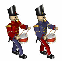 Two Christmas Toy Soldiers Wit...