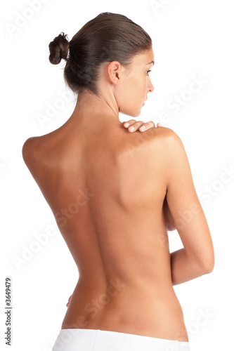 Fotografie, Obraz  Beautiful woman body - high key shot in studio