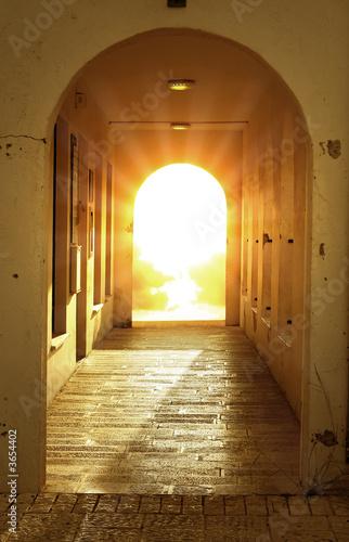 divine bright light in door..