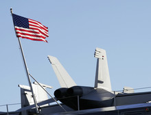 American Flag And Fighter Jet