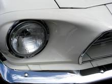 Halogen Head Lamp On Antique Sports Car