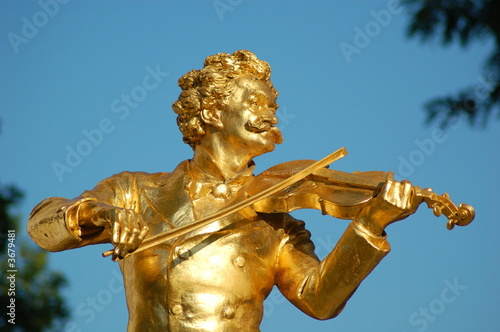 In de dag Wenen Johann Strauss Denkmal Wien