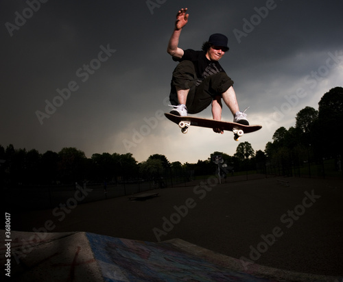 skateboarder melon grab over the hip