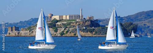 Keuken foto achterwand San Francisco panoramic view of alcatraz in san francisco bay