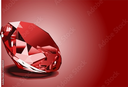 Cuadros en Lienzo  Red ruby background