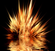 Abstract Design Of Fire Explos...