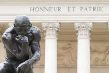 Rodin's Thinker Honneur Et Patrie Close Up