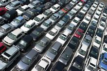 At Car Auction Lot
