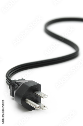 Fotografía  Power Plug - close up on power cord