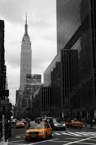 Foto op Aluminium New York Yellow taxis on 35th street, Manhattan, New York