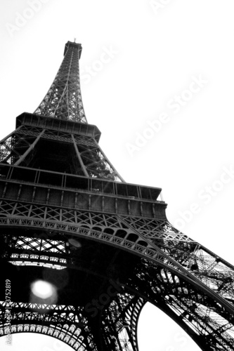 Deurstickers Eiffeltoren Tour Eiffel en perspective