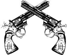Guns Vector Illustration - Go Ahead, Make My Day...