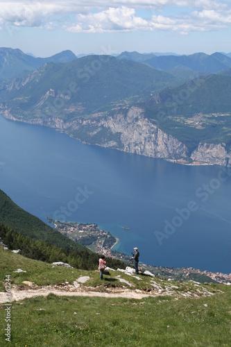 Photographic View, Lake Garda, Italy. Fototapeta