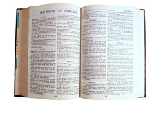 Holy Bible Opened To The Book Of Psalms
