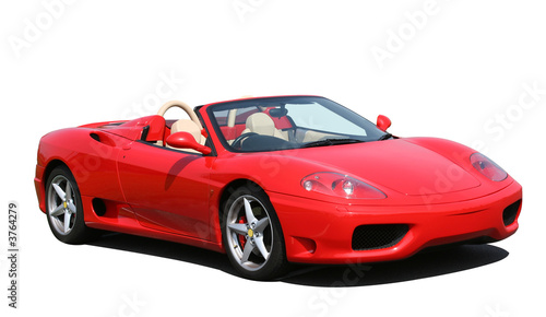 Valokuvatapetti Red convertible sports car