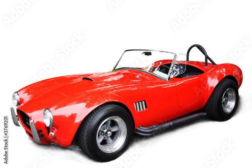Keuken foto achterwand Vintage cars An isolated shot of a classic red sport car