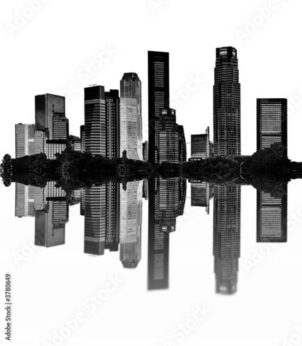 Photo  cityscape - silhouettes of skyscrapers