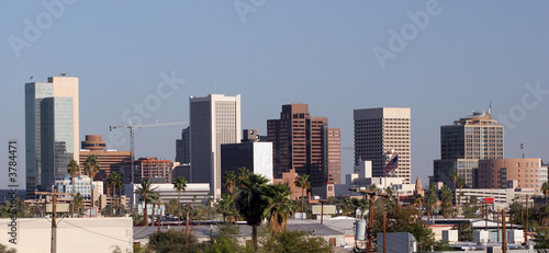 Fototapety, obrazy: Skyscrapers and Houses Roofs in Downtown of Phoenix, AZ