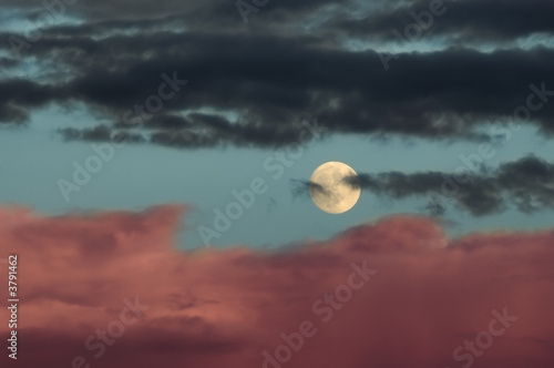 Poster Pleine lune Moon with Clouds