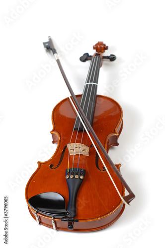 Fotografie, Obraz  A beautiful violin on a white background.