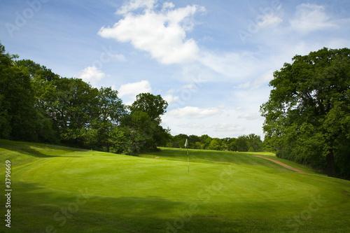 Fotografija Golf fairway in British countryside