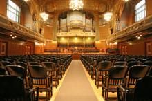 Old Auditorium With Organ, Gol...