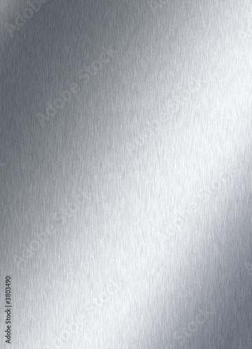 Türaufkleber Metall brushed steel plate