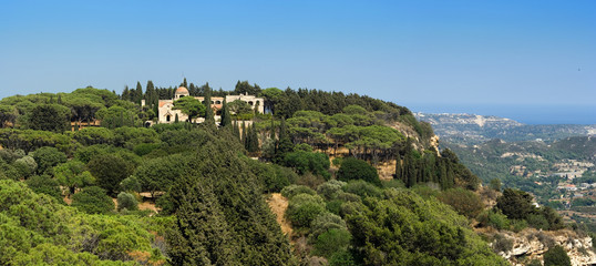 The Monastery of Our Lady in mount Filerimos, Rhodes, Greece