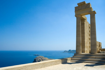 Temple of Athena Lindia at Lindos, Rhodes, Greece
