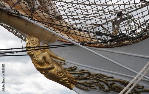 Figurehead on Sailship Fototapet
