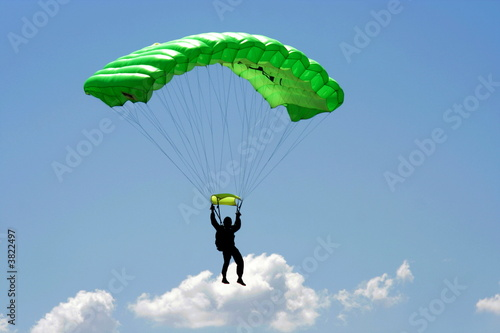 Stampa su Tela Parachuter and cloud