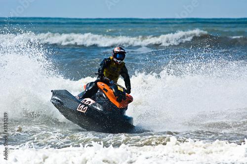 Papiers peints Nautique motorise extreme jet-ski watersports with big waves