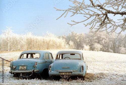 Photo sur Aluminium Vintage voitures Frostige Zeiten