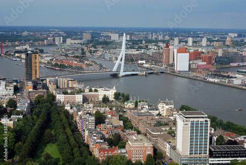 Fotobehang Rotterdam Aerial photo of the City of Rotterdam (the Netherlands)