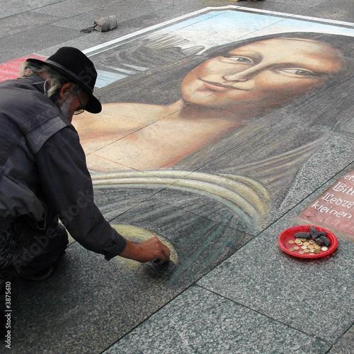 Photo  dessin trottoir