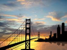 Golden Gate Brigge Near San Fr...