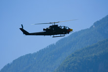 Attack Helicopter At The Airshow