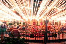 Merry-Go-Round At Night