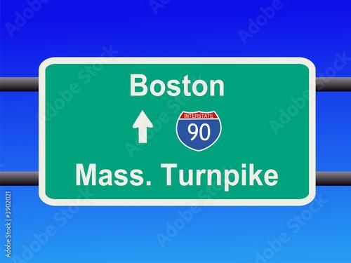 Valokuva  Massachusetts Turnpike sign