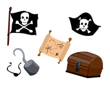 Pirate Icons With Clipping Paths