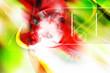 canvas print picture - 3d alien abstract  comosition