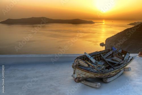 Foto-Leinwand - Santorini