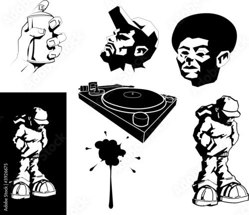 Fotografia vector urban motifs/ stencils.