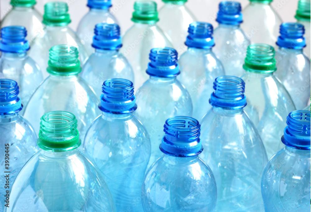 Fototapety, obrazy: Empty water bottles