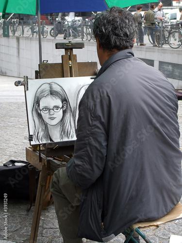 Photo  peintre des rues