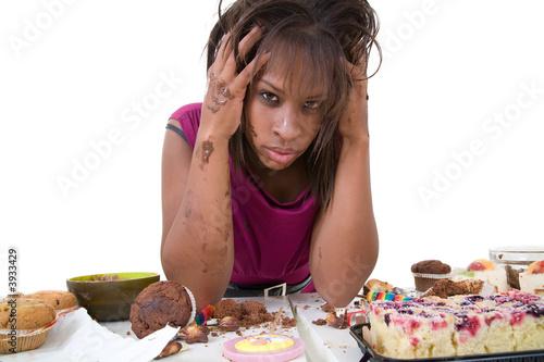 Fotografie, Obraz  Pretty black woman looking desperate