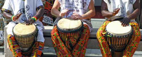 Türaufkleber Afrika Musik