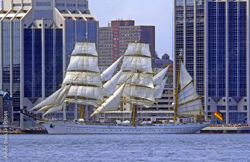 Foto-Schiebegardine Komplettsystem - Das legendäre Marine Schulschiff Gorck Fock II