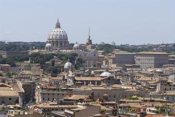 Fototapeta na wymiar roma skyline